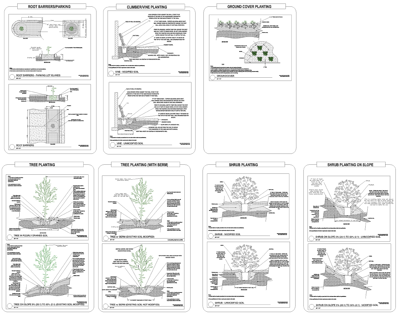 Tree planting | gCADPlus